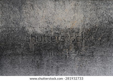 Worn and scratched painted wood plank. - stock photo