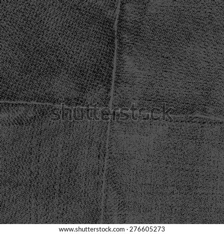worn black jeans texture,seams in shape of the cross - stock photo