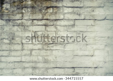 Worn faded brick wall texture background.  - stock photo