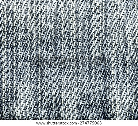 worn gray-blue denim texture closeup. Can be used as background for design-works - stock photo