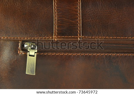 worn leather with zipper  texture - stock photo