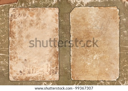 Worn old papers - stock photo