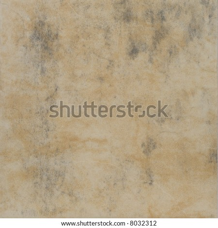 Worn out ceramic tile - stock photo