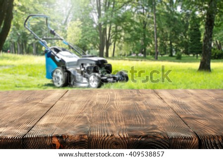 worn wooden space garden and free place  - stock photo