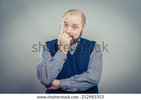 Worried businessman - stock photo