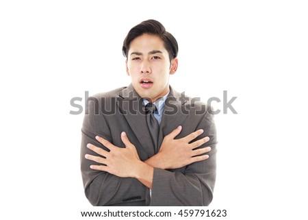 Worried man - stock photo