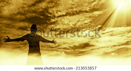 Worship the Lord - stock photo