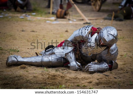 wounded knight - stock photo