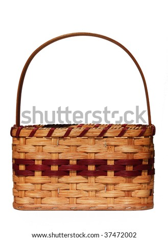 Woven basket - stock photo