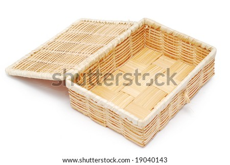 woven box great as a background - stock photo
