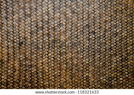 Woven brown wicker basket pattern background texture - stock photo