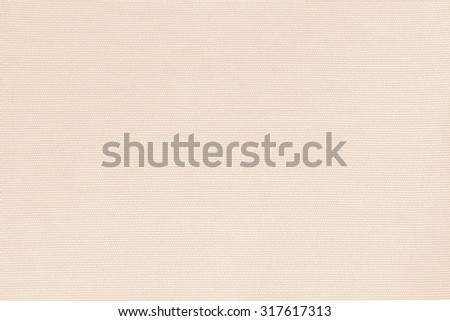 Woven cotton linen fabrics textile textured background in light cream orange beige color tone: Flax satin cloth detail pattern wallpaper backdrop in cream beige brown toned colour     - stock photo