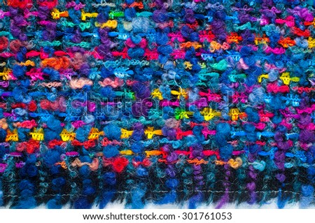 Woven fabrics of coarse thread. tissue, textile, cloth, fabric, material, texture. cloth, typically produced by weaving or knitting textile fibers. - stock photo