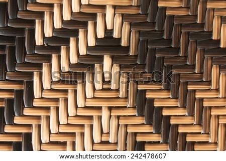 woven pattern with several shading of material - stock photo