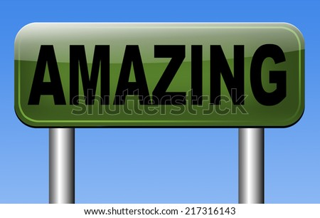 wow factor, amazing and mindblowing fantastic product or item. - stock photo