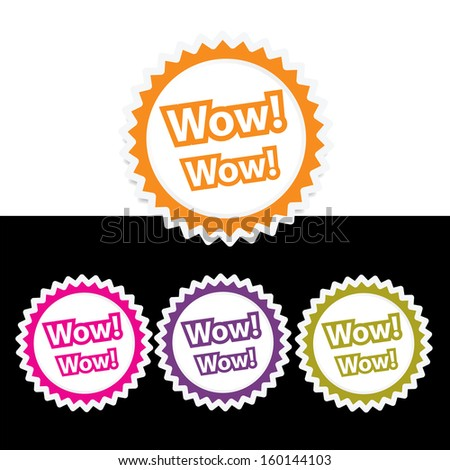 wow- jpg format. - stock photo