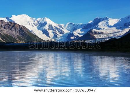 Wrangell-St. Elias National Park and Preserve,Alaska. - stock photo