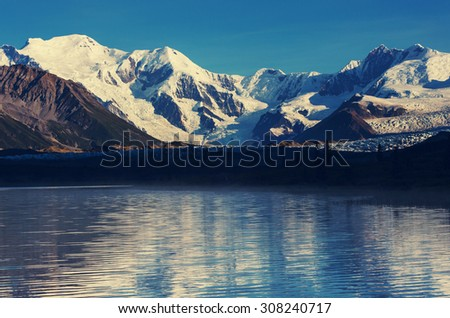 Wrangell-St. Elias National Park and Preserve,Alaska. - stock photo