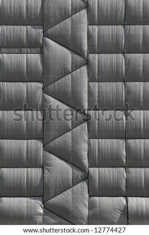 wrapped building - stock photo