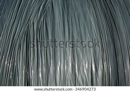 wrapped plastic foil package - stock photo