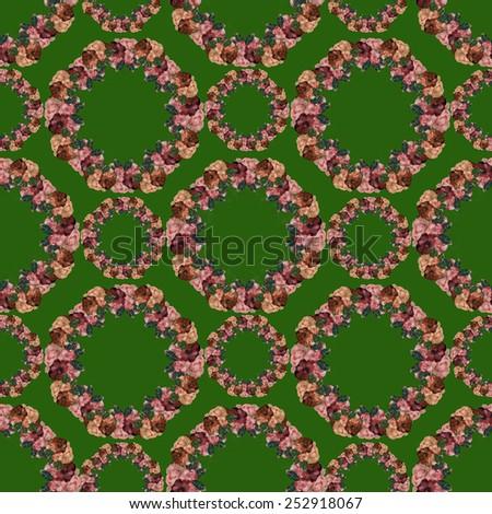 Wreath-er seamless pattern  - stock photo