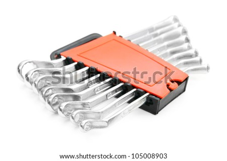 Wrenches. On a white background. - stock photo