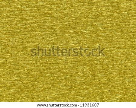 Wrinkled gold foil - stock photo