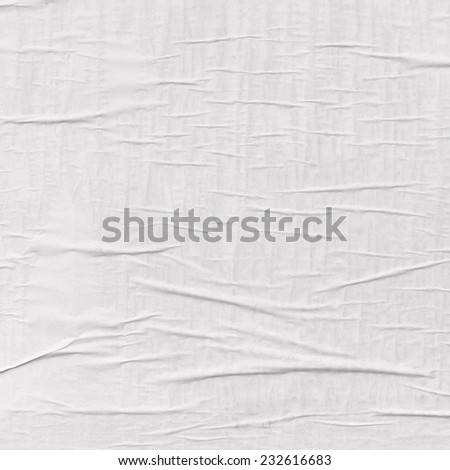 wrinkled paper - stock photo