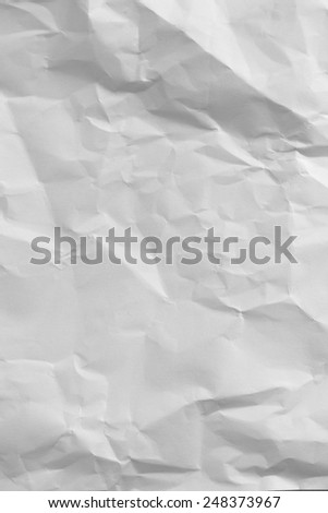 Wrinkled paper background texture - stock photo