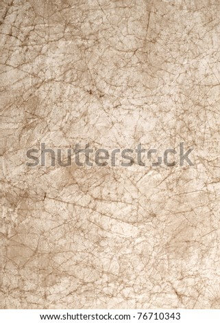 wrinkled paper great as a background isolated on white - stock photo