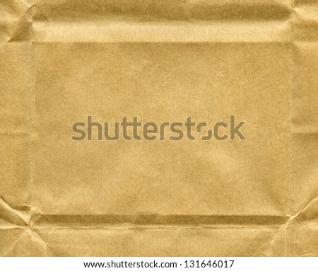 Wrinkled recycled paper texture - stock photo
