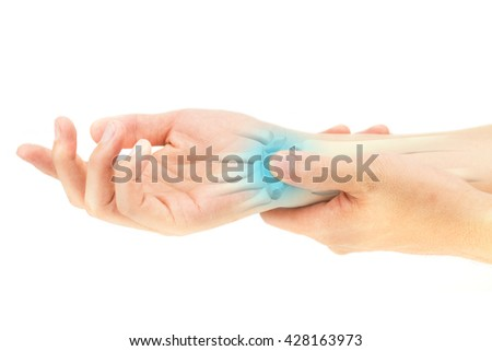 wrist bones injury - stock photo