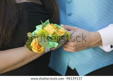 Wrist Corsage - stock photo