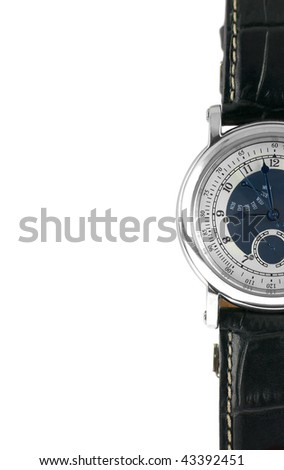 Wrist Watch on White Background - stock photo