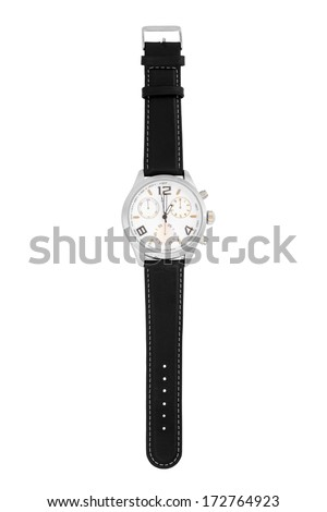Wristwatch isolated on white background - stock photo