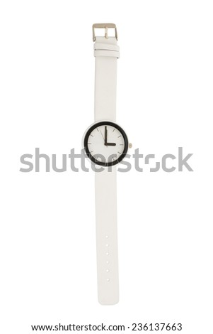 Wristwatch isolated on white background - stock photo