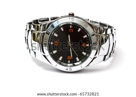 Wristwatch - Isolated on white background - stock photo