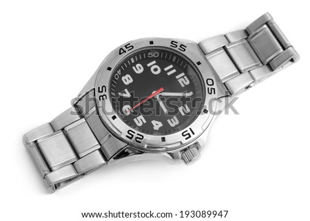 Wristwatch on a white background - stock photo