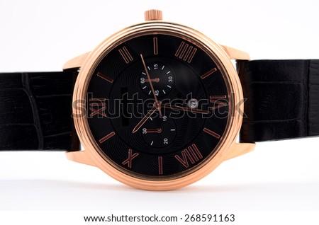 wristwatch on a white background - stock photo