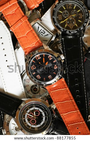 Wristwatches, for backgrounds or textures - stock photo