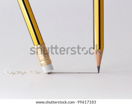 write and erase - stock photo