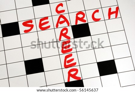 Write the words Career Search on a crossword puzzle - stock photo