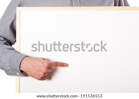 Write your text here, white empty board - stock photo