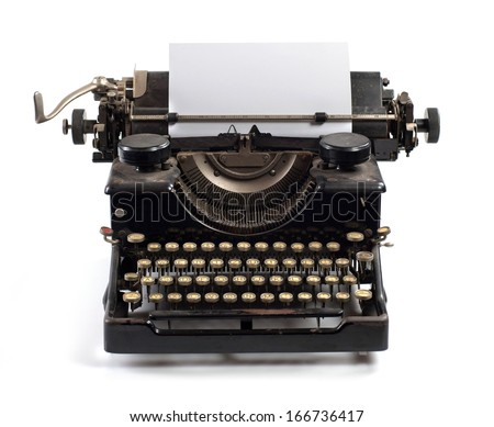 writer of past times - stock photo