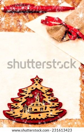 Writing a letter to Santa Claus, Christmas and New Year decoration - stock photo