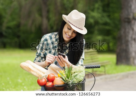 Writing a message - stock photo