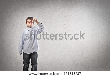 Writing child - stock photo