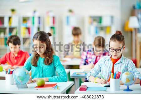 Writing essay - stock photo