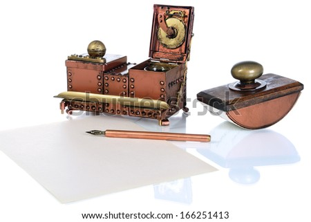 writing implements - stock photo
