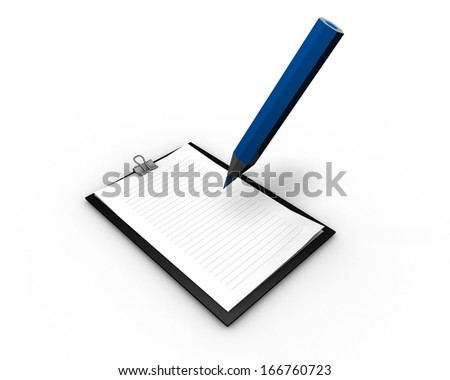 writing letter, curriculum concept illustration isolated - stock photo